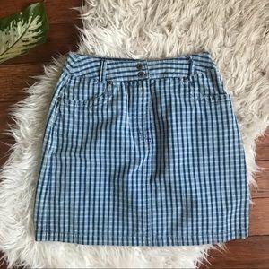 90s Plaid mini skirt
